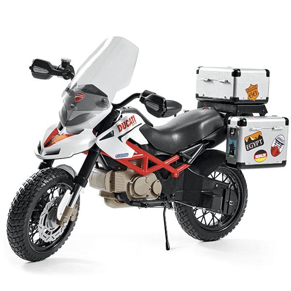 Детский электромотоцикл Peg-Perego MC0021 DUCATI Hypercross автокресло peg perego viaggio 1 2 3 via urban denim