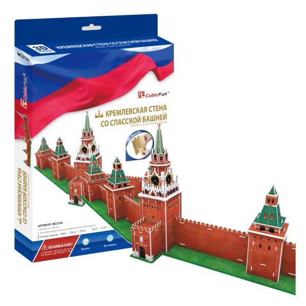 Cubic Fun MC212h Кубик фан Кремлевская стена со Спасской башней (Россия) cubicfun пазл кремлевская стена со спасской башней россия