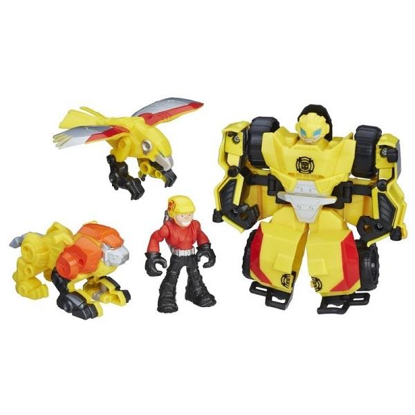 Hasbro Playskool Heroes C0212/C0296 Трансформеры Спасатели Набор спасателей Отряд Бамблби