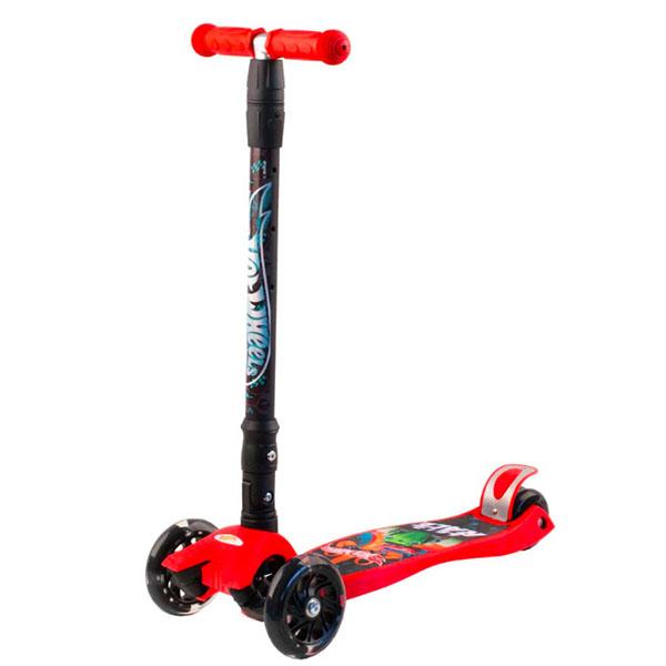 Hot Wheels HW5PR1 Самокат 3-х колесный, красный, размеры: 57х22х90см самокат hot wheels