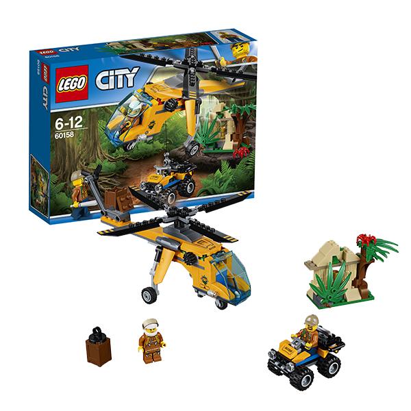 Lego City 60158 Конструктор Лего Город Грузовой вертолёт исследователей джунглей lego lego city 60093 вертолет исследователей моря