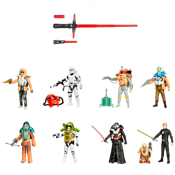 Hasbro Star Wars B2948N Звездные Войны Световой меч делюкс + фигурка hasbro hasbro star wars фигурка с аксессуарами звездные войны кайло рен 10 см