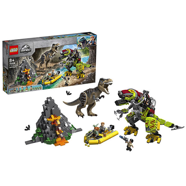LEGO Jurassic World 75938 Конструктор ЛЕГО Бой тираннозавра и робота-динозавра