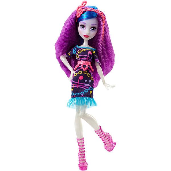 Mattel Monster High DVH68 Школа Монстров Неоновые монстряшки Под напряжением Аури Хаудингтон куклы и одежда для кукол монстер хай monster high кукла скелита калаверас