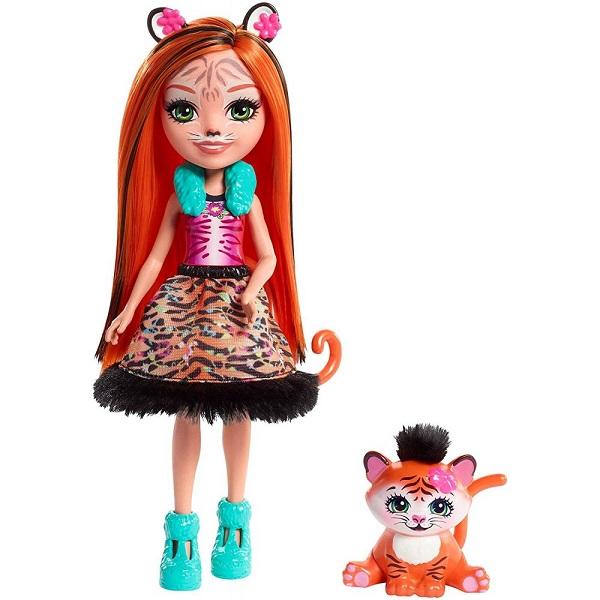 Mattel Enchantimals FRH39 Кукла с питомцем - Тигрица Тэнзи