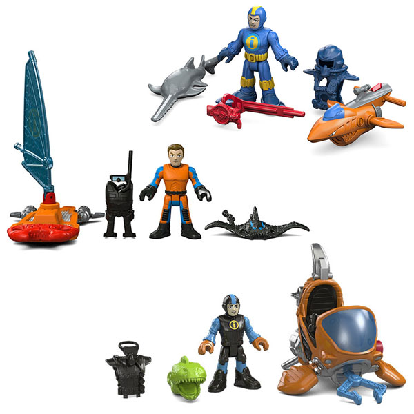 купить Mattel Imaginext DFY01 Базовый ассортимент морской техники по цене 399 рублей