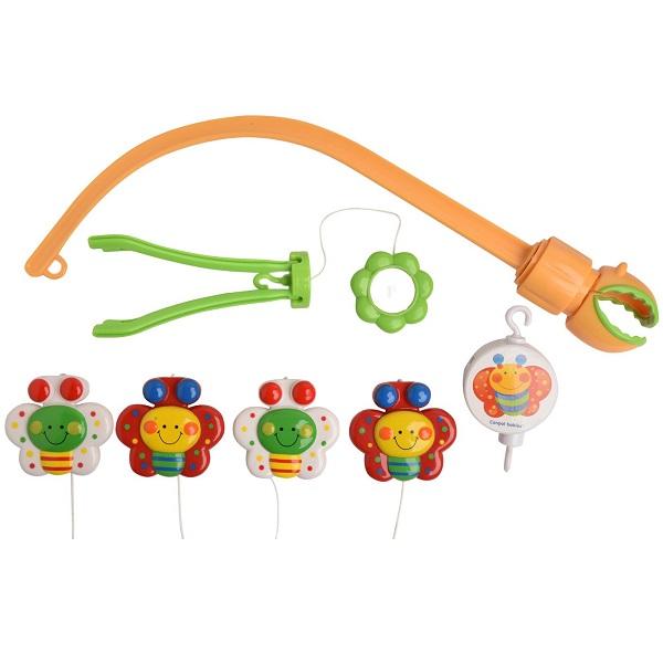 Canpol babies 250930005 Карусель музыкальная пластиковая - бабочки, 0+ Happy garden