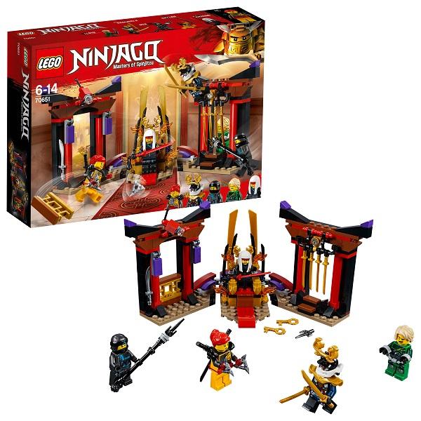 Lego Ninjago 70651 Конструктор Лего Ниндзяго Решающий Бой в Тронном Зале конструктор lego elves решающий бой между эмили и ноктурой 41195