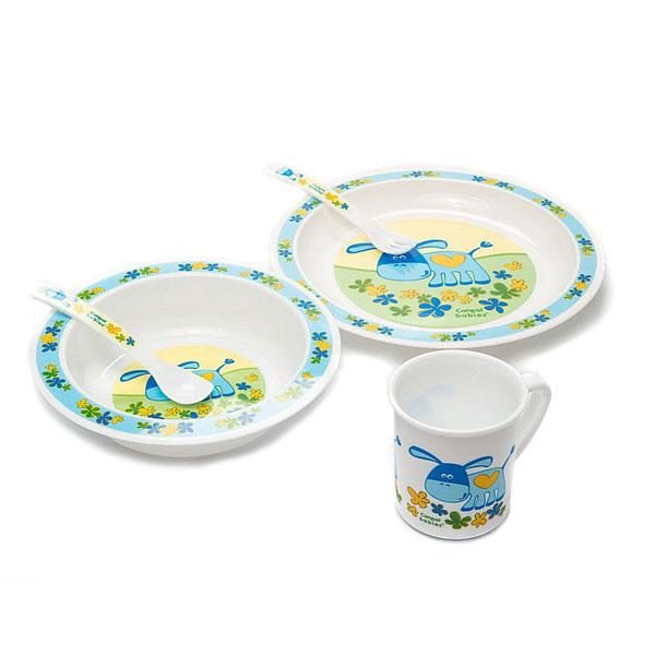 Canpol babies 210307110 Набор обеденный пластиковый, голубой, 12м+