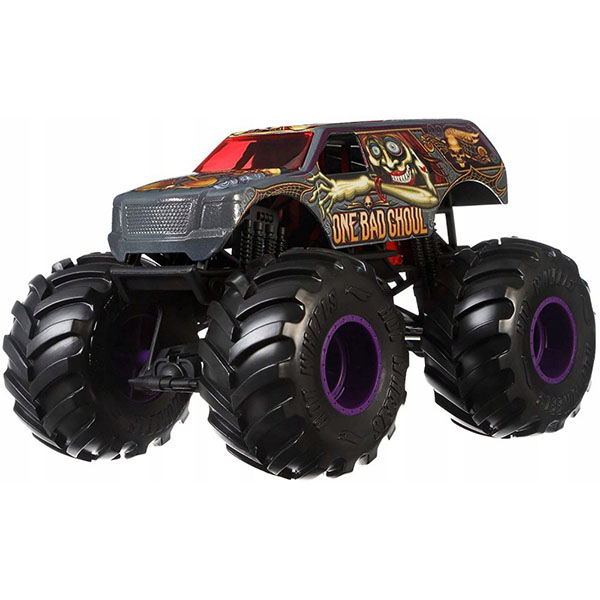 Mattel Hot Wheels GBV39 Хот Вилс Монстр трак 1:24 ONE BAD GHOU