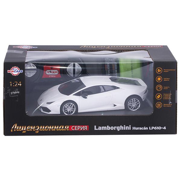 Wincars DS-2008 Lamborghini Huracan LP610-4 (лицензия), Р/У, масштаб 1:24, ЗУ в комплекте
