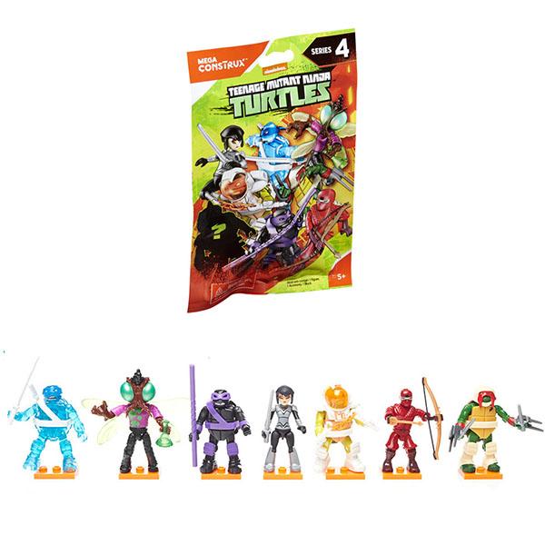 Mattel Mega Bloks FDB65 Мега Блокс Черепашки Ниндзя: персонажи мультфильма (в ассортименте) конструкторы mega bloks mattel черепашки ниндзя схватка в пиццерии 129 деталей
