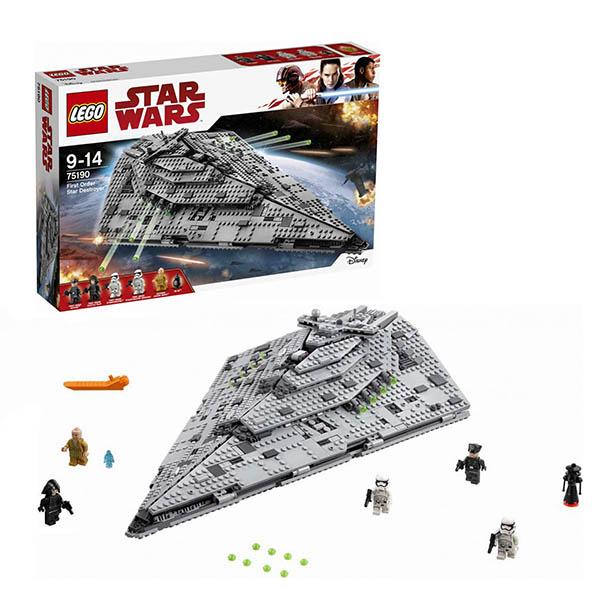 Lego Star Wars 75190 Конструктор Лего Звездные Войны Звездный разрушитель первого ордена конструктор lepin star plan тяжелый разведывательный шагоход первого ордена 620 дет 05126