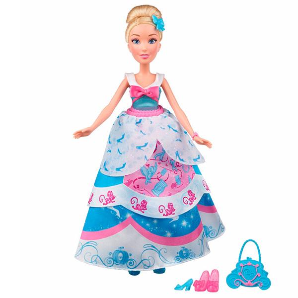 Hasbro Disney Princess B5314 Модная кукла Принцесса в платье со сменными юбками Золушка