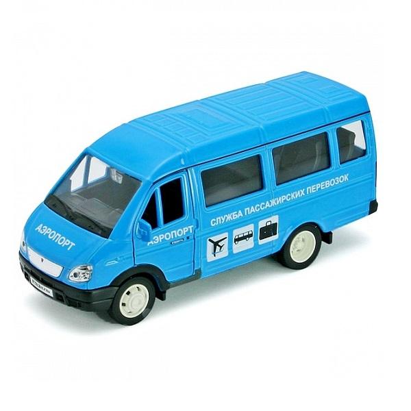 Welly 42387AAP Велли Модель машины 1:34-39 ГАЗель АЭРОПОРТ welly 42387b велли модель машины 1 34 39 газель фургон с окном