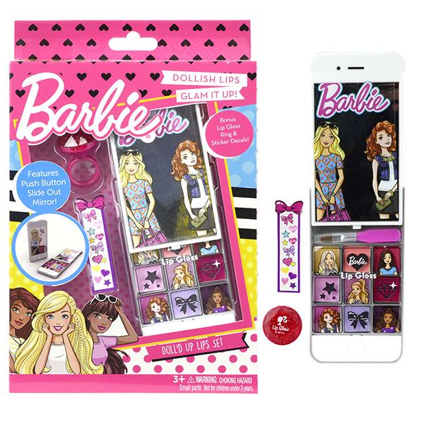 Markwins 9708451 Barbie Игровой набор детской декоративной косметики для губ
