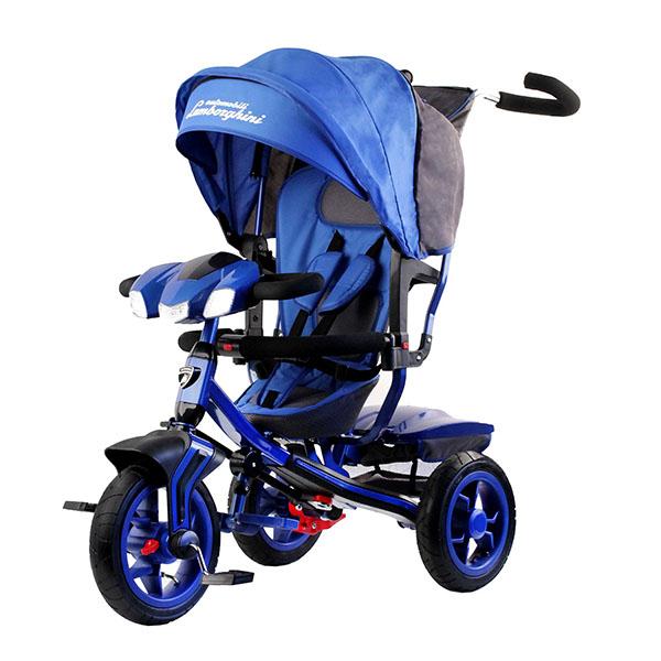 LAMBORGHINI L3B Велосипед с руч. управ. ,надув.колеса 12/10,своб.ход,фара свет.звук,синий