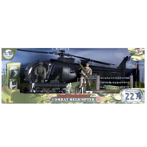 игровые фигурки World Peacekeepers MC77031 Игровой набор Вертолёт 2 фигурки, 1:18
