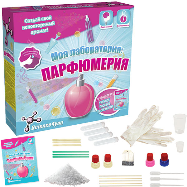 Science4you 606630 Набор опытов Моя лаборатория: парфюмерия парфюмерия адидас