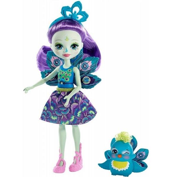 Mattel Enchantimals FXM74 Кукла с питомцем Пэттер Павлина mattel enchantimals fxm74 кукла с питомцем пэттер павлина