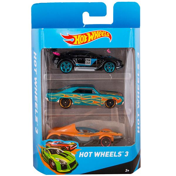 Mattel Hot Wheels K5904 Хот Вилс Машинки Подарочный набор из 3х машинок (в ассортименте)