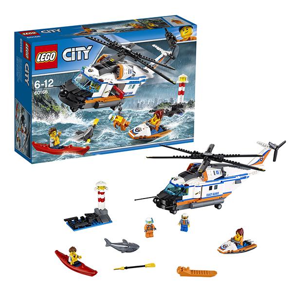 Lego City 60166 Конструктор Лего Город Сверхмощный спасательный вертолёт lego city 60166 конструктор лего город сверхмощный спасательный вертолёт