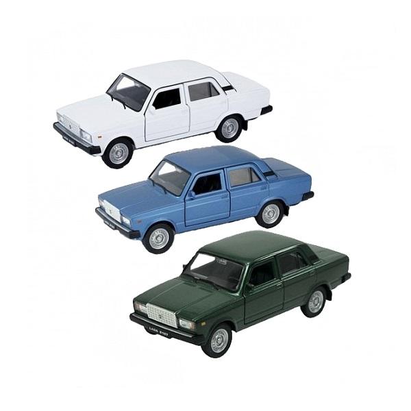 Welly 43644 Велли модель машины 1:34-39 LADA 2107 (в ассортименте) цена
