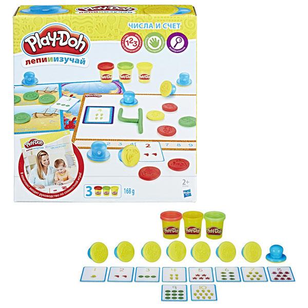 Hasbro Play-Doh B3406 Игровой набор Цифры и числа play doh игровой набор праздничный торт