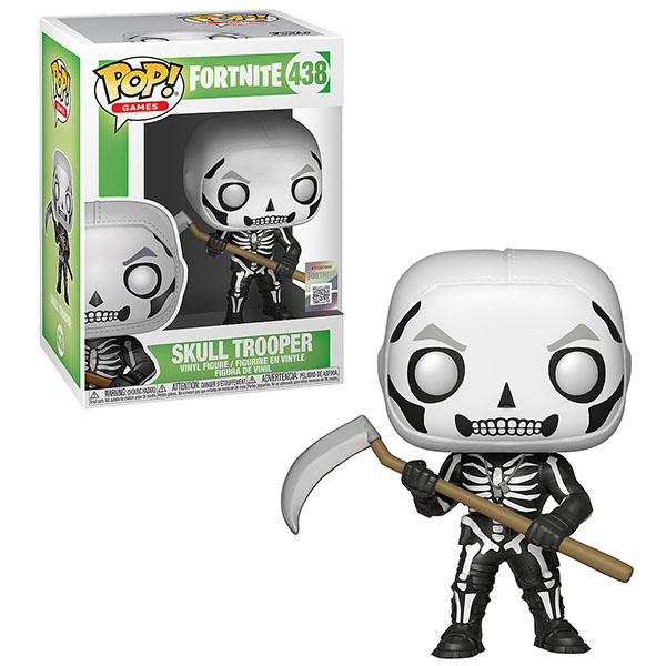 Funko POP 34470F Vinyl: Games: Fortnite: Skull Trooper 34470 funko pop vinyl фигурка disney monsters inc roz
