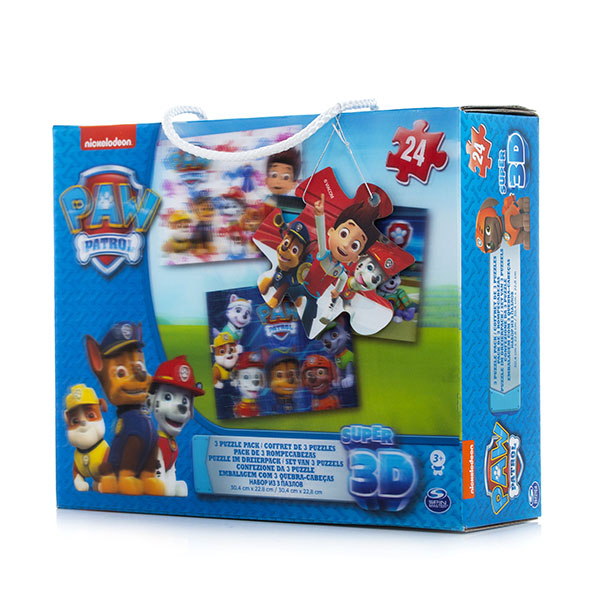 Paw Patrol 6033115 Щенячий патруль Набор 3D пазлов Щенячий Патруль pocketman 9000 lumens high power 5 mode cree xm l t6 l2 led flashlight zoomable rechargeable focus torch by 1 18650 or 3 aaa z92