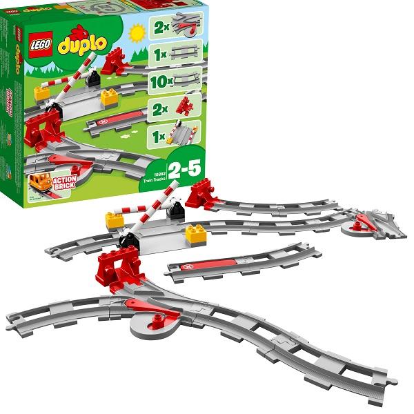 LEGO DUPLO 10882 Конструктор ЛЕГО ДУПЛО Рельсы и стрелки