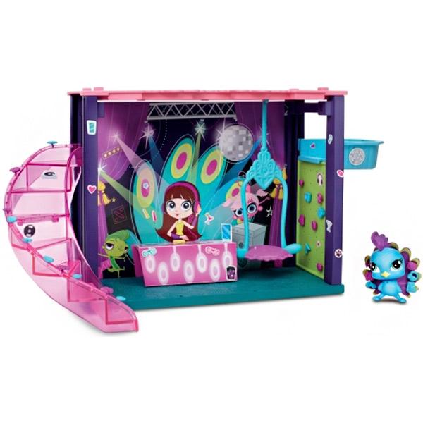 Hasbro Littlest Pet Shop B0118 Литлс Пет Шоп Мини-игровой набор DJ Блайс