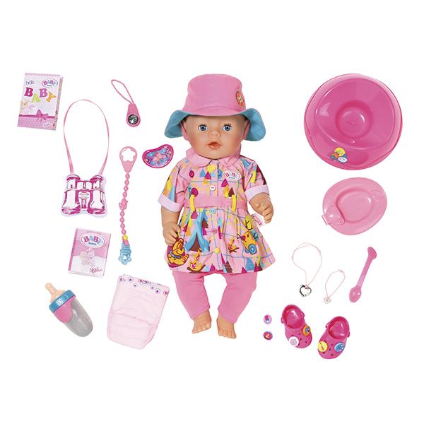 Zapf Creation Baby born 823-804 Бэби Борн Кукла Интерактивная в теплой одежде, 43 см