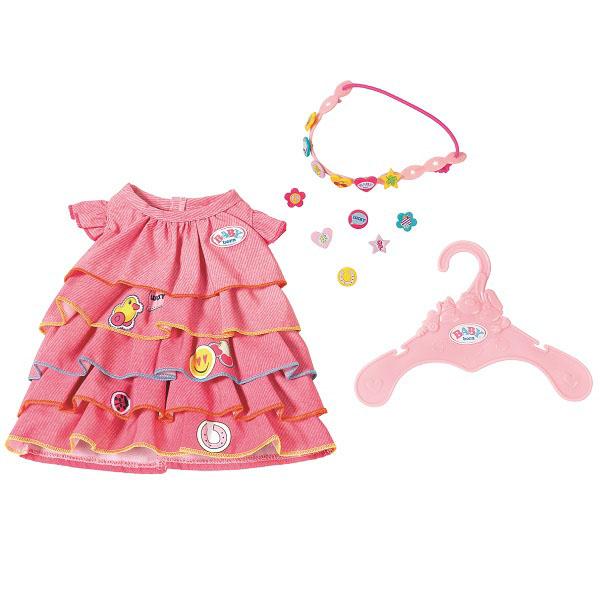Zapf Creation Baby born 824-481 Бэби Борн Платье и ободок-украшение ободок для девочки mnx9 белый бэби ко