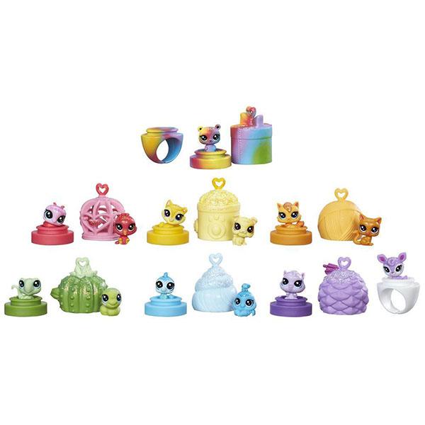 Hasbro Littlest Pet Shop C0796 Литлс Пет Шоп: Радужная коллекция - 13 крошечных радужных петов академия групп жесткий пенал littlest pet shop