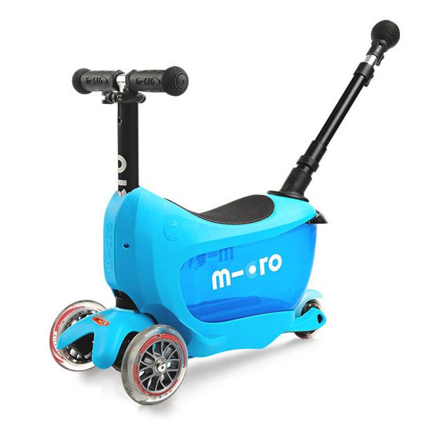 Micro MMD034 Самокат Mini2Go Deluxe Plus, синий