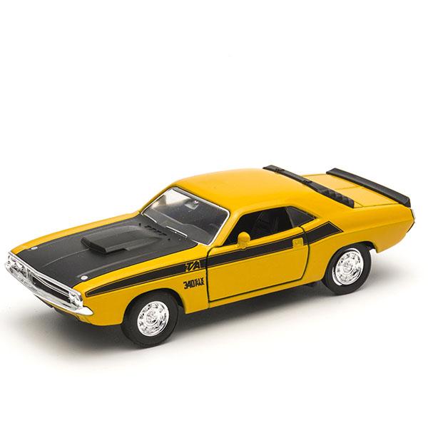 Welly 43663 Велли Модель винтажной машины 1:34-39 Dodge Challenger 1970