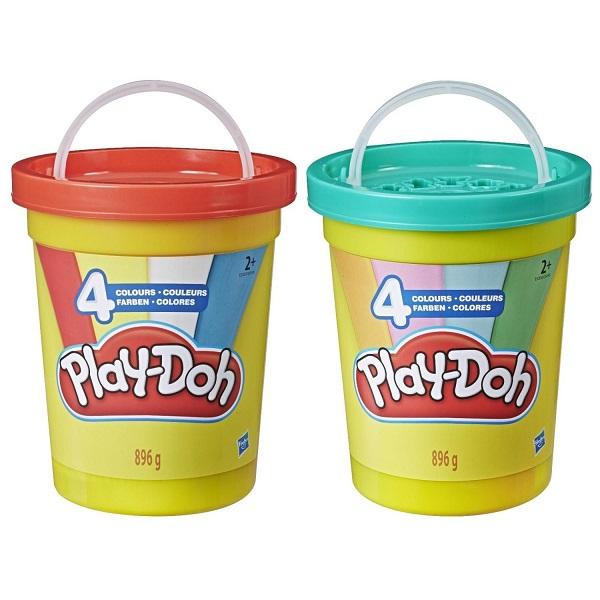 цена на Hasbro Play-Doh E5045 Плей-До Масса для лепки - 4 цвета (большая банка)