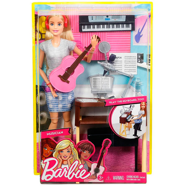 """Mattel Barbie FCP73 Барби """"Музыкант блондинка"""""""