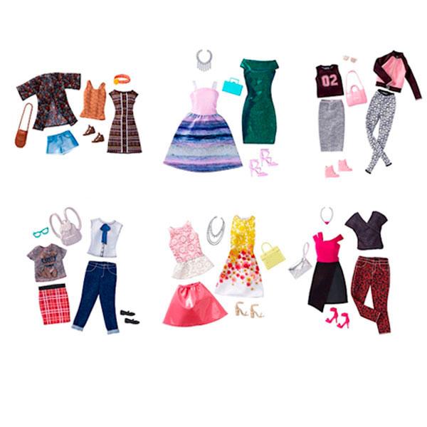 Mattel Barbie FCT90 Барби Наборы из 2 нарядов для разных типов фигур (в ассортименте) mattel дизайн студия для создания цветных нарядов barbie