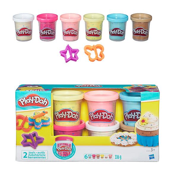 Hasbro Play-Doh B3423 Игровой набор из 6 баночек с конфетти hasbro play doh игровой набор из 8 баночек с 2 лет