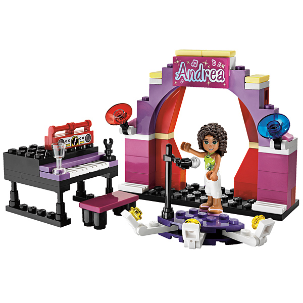 Лего Подружки 3932 Андреа на сцене