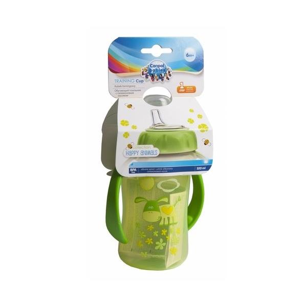 Canpol babies 250930159 Поильник обучающий с силиконовым носиком и ручками, зеленый, 320 мл. 6м+