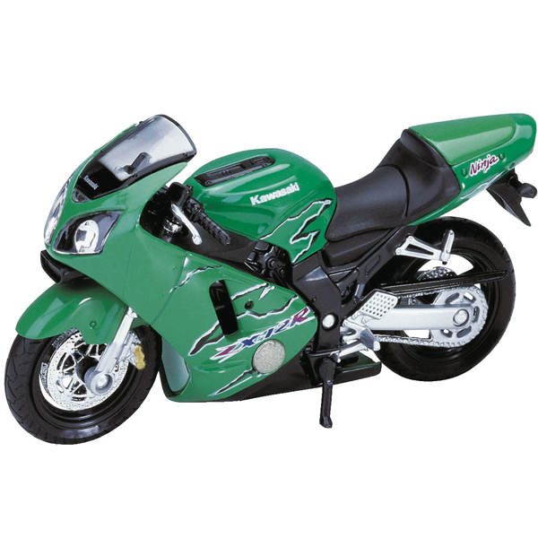Welly 12167P Велли Модель мотоцикла 1:18 MOTORCYCLE / KAWASAKI 2001 NINJA ZX-12R welly модель мотоцикла 1 18 yamaha yzf r1