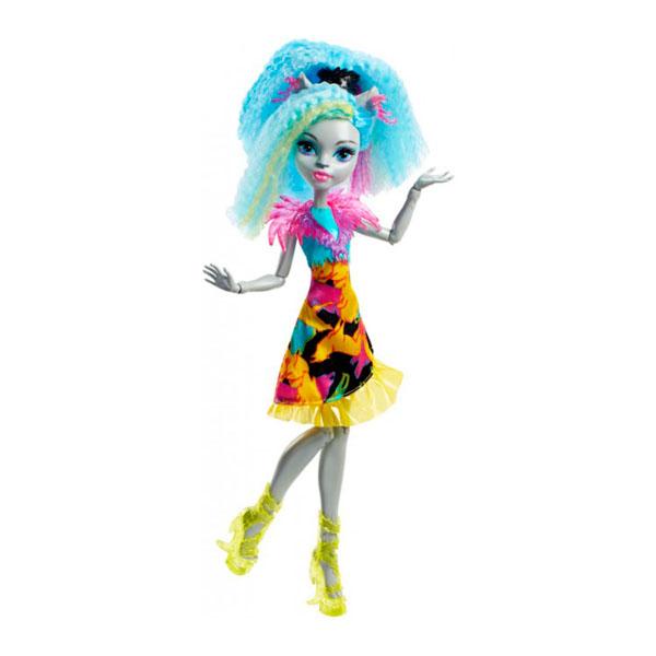 Mattel Monster High DVH66 Школа Монстров Неоновые монстряшки Под напряжением Сильви Тимбервулья