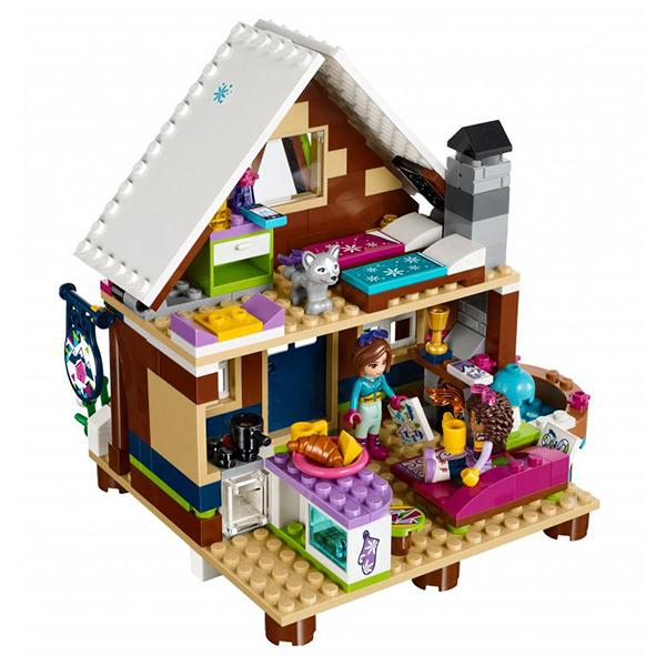 Лего Подружки 41323 Конструктор Горнолыжный курорт: шале