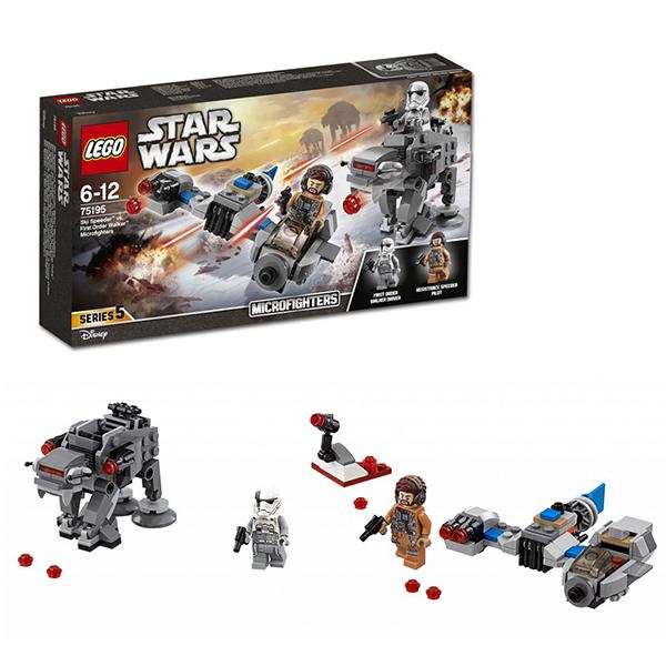 Lego Star Wars 75195 Конструктор Лего Звездные Войны Бой пехотинцев Первого Ордена против спидера конструктор lego star wars бой пехотинцев первого ордена против спидера на лыжах 75195