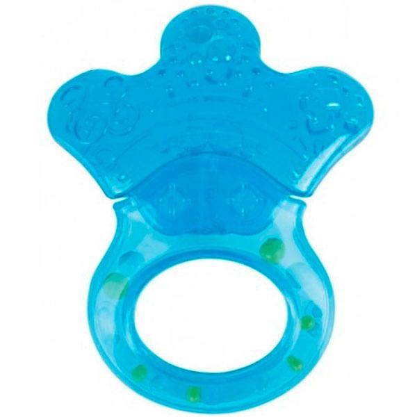 Canpol babies 250930488 Прорезыватель водный с погремушкой, голубая лапка, 0+