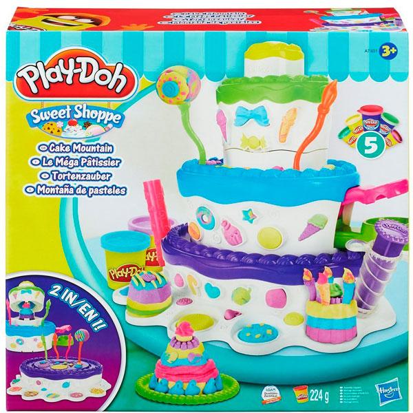 Hasbro Play-Doh A7401 Игровой набор Праздничный торт всё для лепки play doh hasbro игровой набор праздничный торт