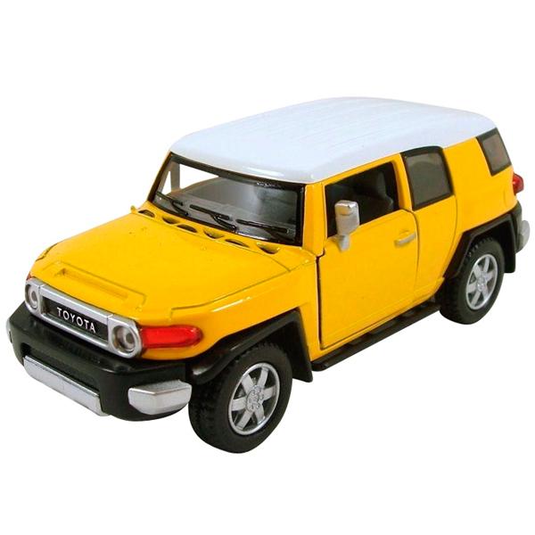 Welly 43639 Велли Модель машины 1:34-39 Toyota FJ Cruiser модель машины автопанорама 1 43 toyota fj cruiser желтый инерционная открываются двери
